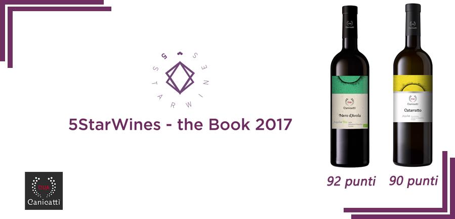 """I vini di CVA Canicattì sono tra i""""Vini selezionati"""" della guida #5StarWines the Book 2017."""