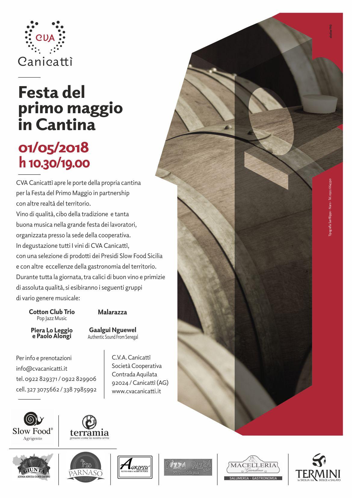 Festa del Primo Maggio in Cantina - CVA Canicattì - Vini Siciliani