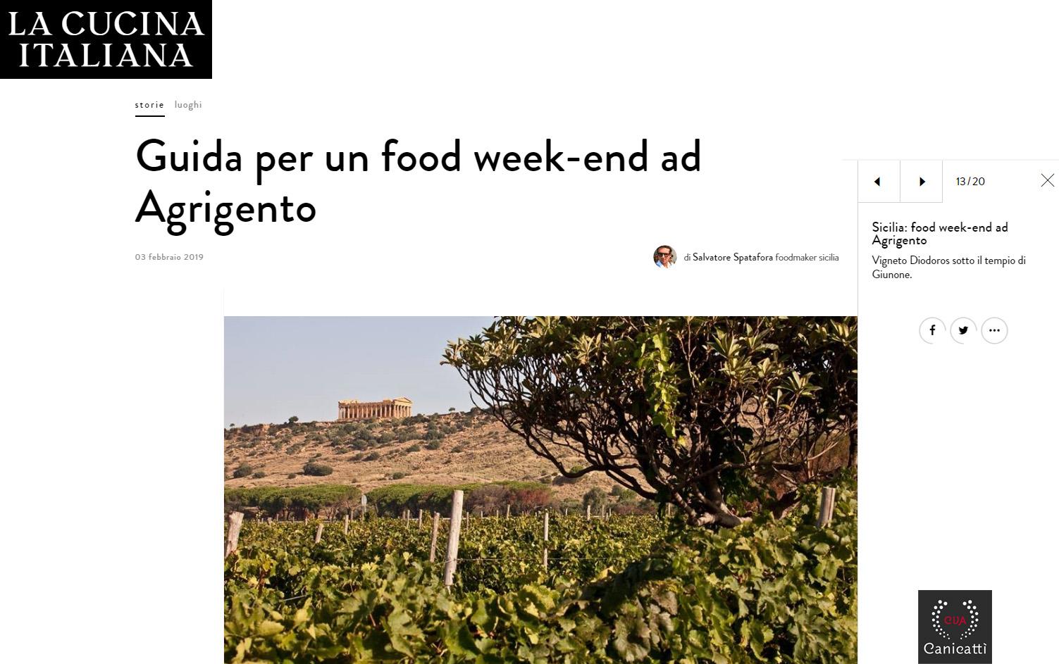 6 febbraio 2019 - Cucina Italiana CVA