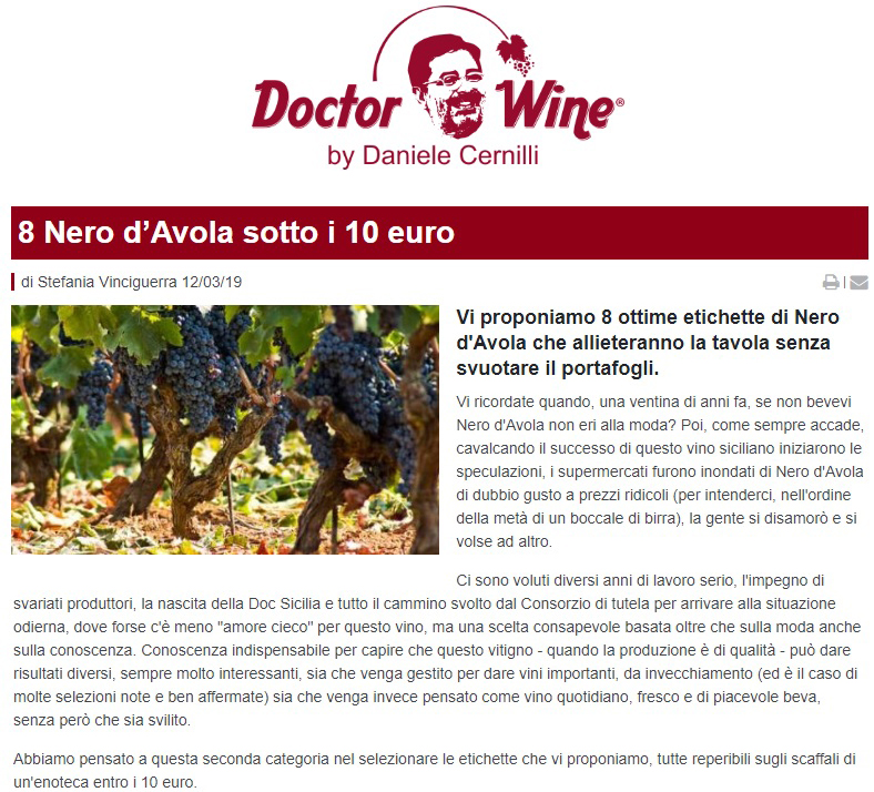 CVA Canicattì su Doctor Wine