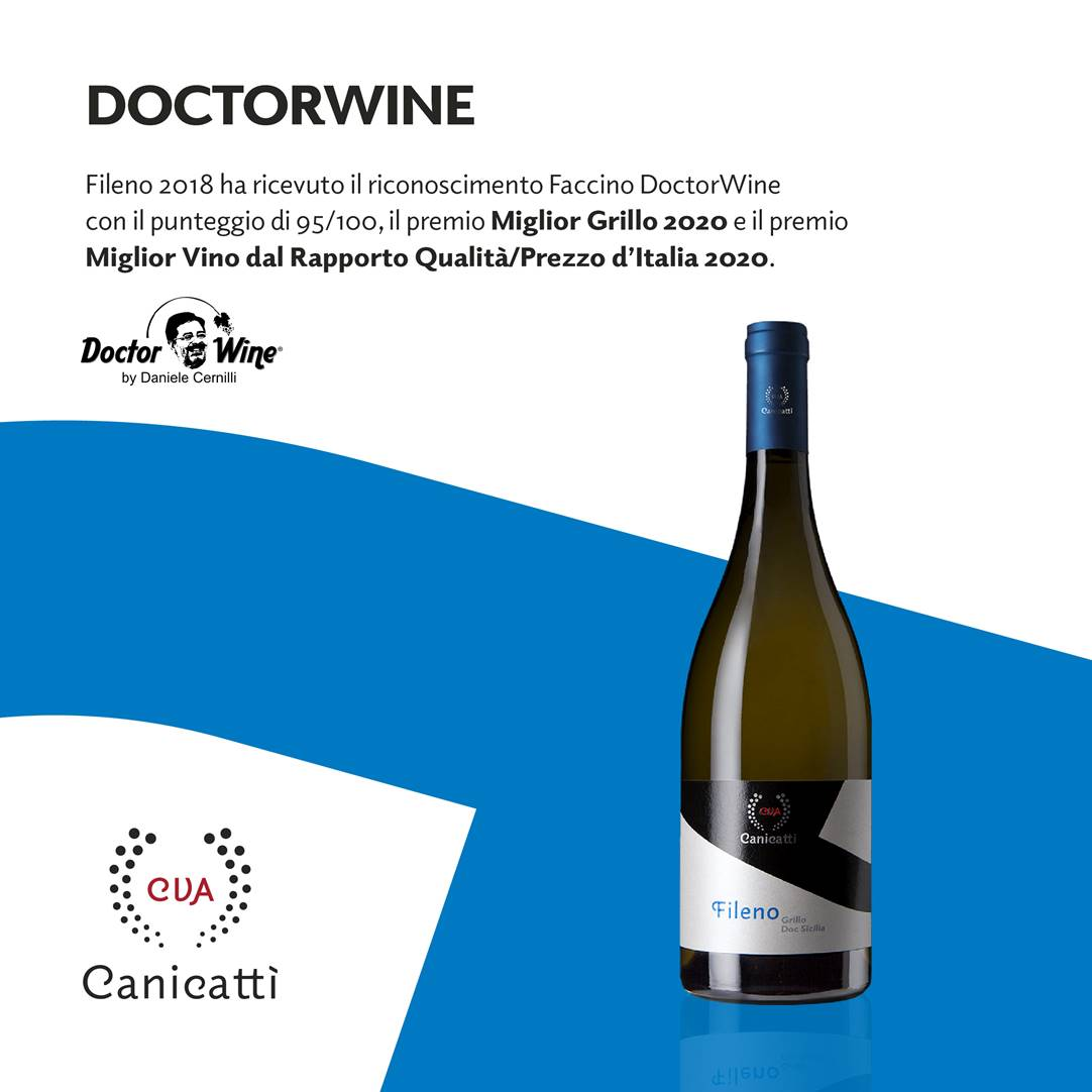 Fileno premiato da DoctorWine - CVA Canicattì